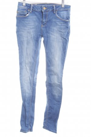 Zara Woman Slim Jeans stahlblau Casual-Look