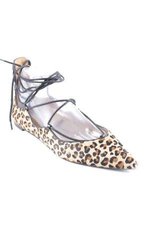 Zara Woman Ballerine à bride arrière motif léopard style classique