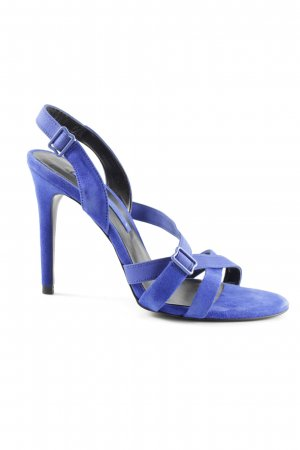 Zara Woman Slingback-Pumps blau Casual-Look