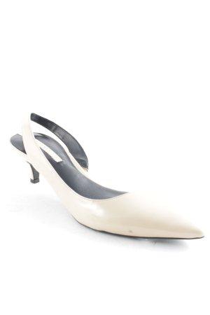 Zara Woman Slingback-Pumps creme-schwarz Elegant