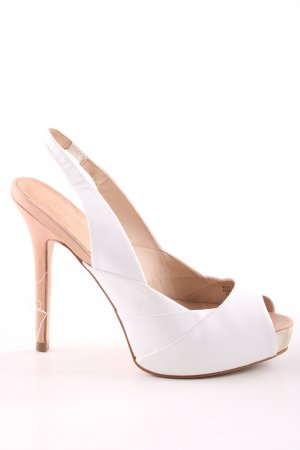 Zara Woman Slingback Pumps white-nude casual look