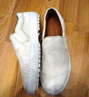 Zara Woman Slip Ons Sneaker Schuhe Gr. 39/40 creme Street-Fashion-Look