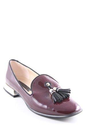 Zara Woman Babouche bordeau style d'affaires