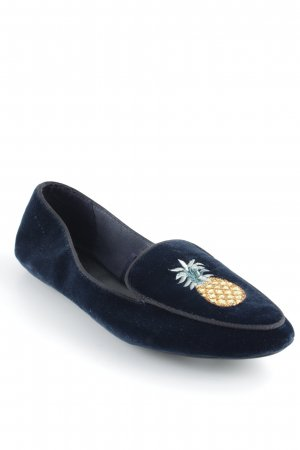 Zara Woman Slipper dunkelblau Business-Look