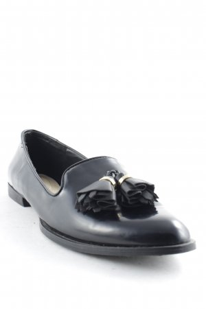 Zara Woman Slipper schwarz Elegant