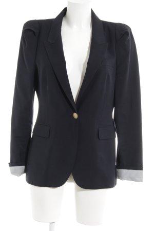 Zara Woman Smokingblazer donkerblauw zakelijke stijl