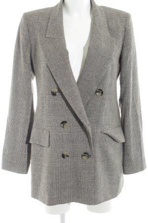Zara Woman Blazer de esmoquin gris claro-gris oscuro estilo «business»