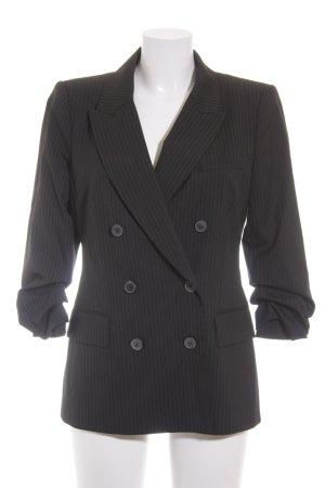 Zara Woman Smoking-Blazer schwarz-grau Nadelstreifen Boyfriend-Look
