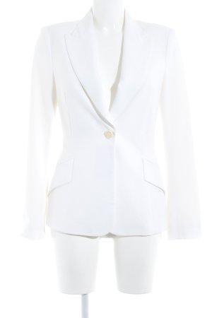 Zara Woman Veste de smoking blanc cassé style décontracté