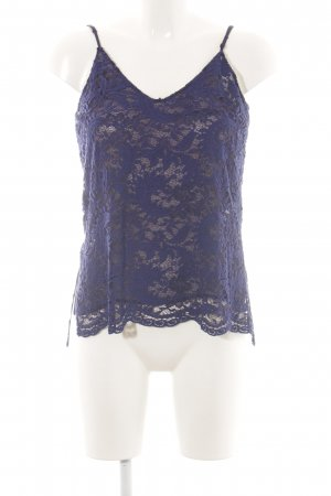 Zara Woman Spaghettiträger Top neonblau Casual-Look