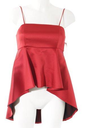 Zara Woman Spaghettiträger Top rot-schwarz Elegant