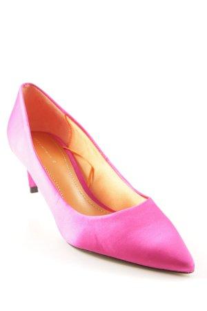 Zara Woman Spitz-Pumps neonorange-pink Casual-Look