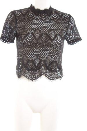 Zara Woman Lace Blouse black casual look