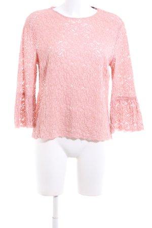 Zara Woman Spitzenbluse pink Elegant