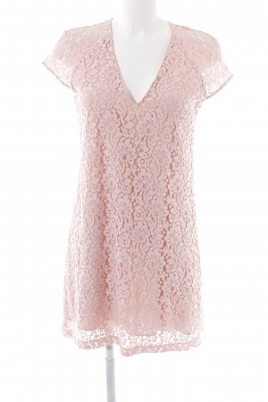 Zara Woman Lace Dress pink flower pattern casual look