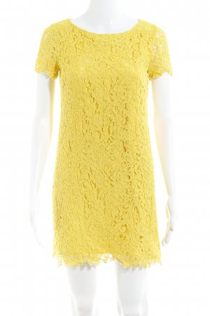 Zara Woman Lace Dress yellow floral pattern simple style
