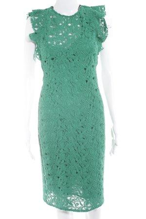 Zara Woman Spitzenkleid grün florales Muster Casual-Look
