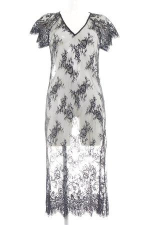 Zara Woman Lace Dress black flower pattern elegant
