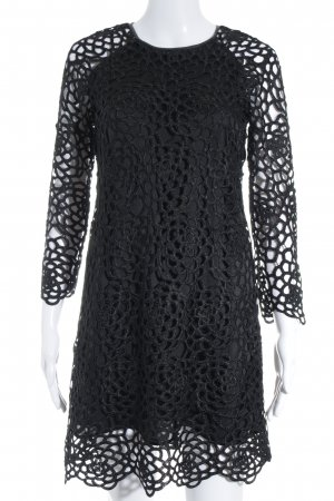 Zara Woman Spitzenkleid schwarz florales Muster Elegant