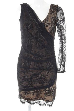 Zara Woman Spitzenkleid schwarz-goldfarben Party-Look