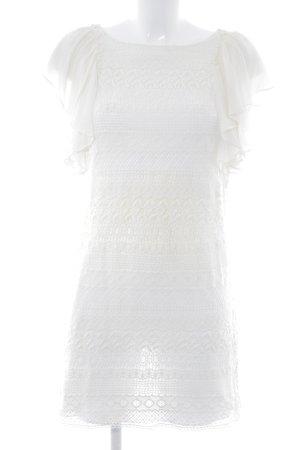Zara Woman Spitzenkleid wollweiß Party-Look