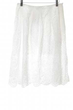 Zara Woman Lace Skirt white casual look