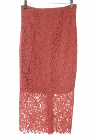 Zara Woman Lace Skirt salmon-red allover print elegant