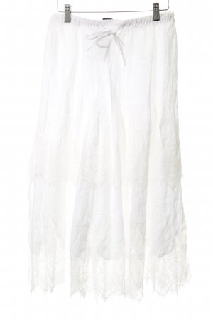 Zara Woman Lace Skirt white elegant
