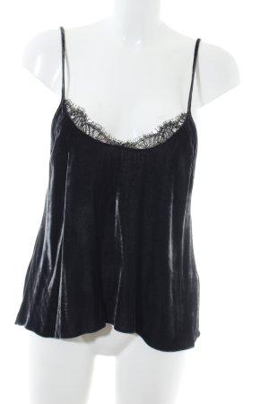 Zara Woman Spitzentop schwarz extravaganter Stil