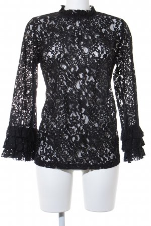 Zara Woman Kanten topje zwart elegant