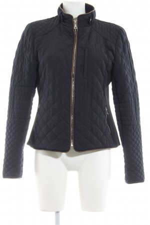 Zara Woman Steppjacke dunkelblau-braun Steppmuster