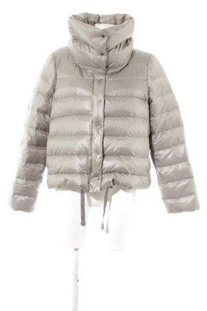 Zara Woman Gewatteerd jack zilver quilten patroon wetlook
