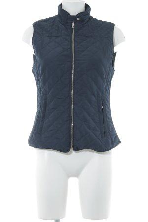 Zara Woman Steppweste dunkelblau Reiter-Look
