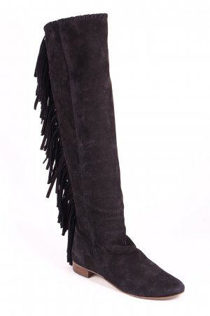 Zara Woman Schnürstiefel schwarz Country-Look