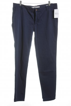 Zara Woman Stoffhose blau Casual-Look