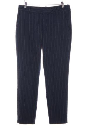 Zara Woman Stoffhose dunkelblau-weiß Nadelstreifen Casual-Look