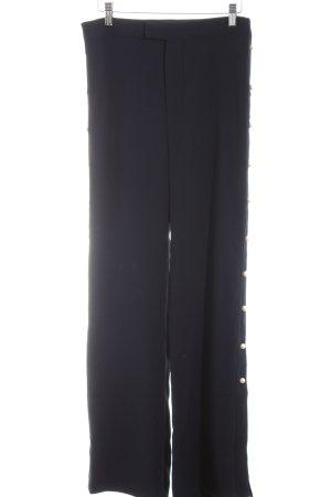 Zara Woman Stoffhose dunkelblau-wollweiß Business-Look