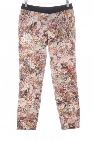 Zara Woman Stoffhose florales Muster Casual-Look