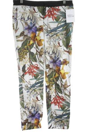 Zara Woman Stoffhose florales Muster extravaganter Stil