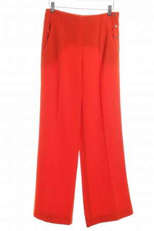Zara Woman Stoffhose hellrot Business-Look