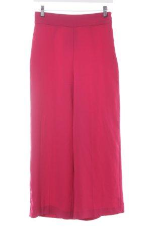 Zara Woman Stoffhose himbeerrot extravaganter Stil