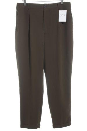 Zara Woman Stoffhose olivgrün Business-Look