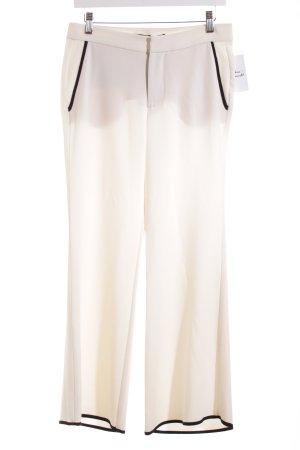 Zara Woman Stoffhose schwarz-creme klassischer Stil