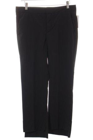 Zara Woman Stoffhose schwarz-weiß Nadelstreifen Business-Look