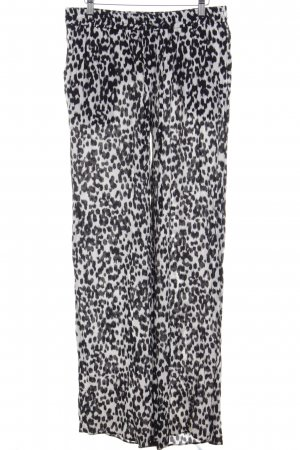Zara Woman Stoffhose schwarz-wollweiß Leomuster Animal-Look