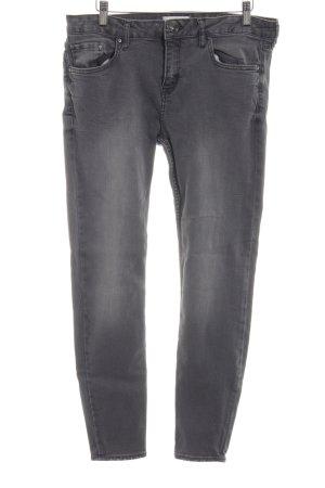 Zara Woman Straight-Leg Jeans hellgrau Jeans-Optik