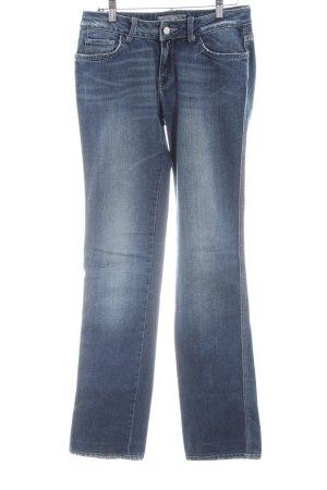 Zara Woman Straight-Leg Jeans blau Casual-Look