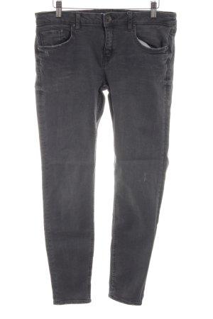Zara Woman Straight-Leg Jeans hellgrau Casual-Look