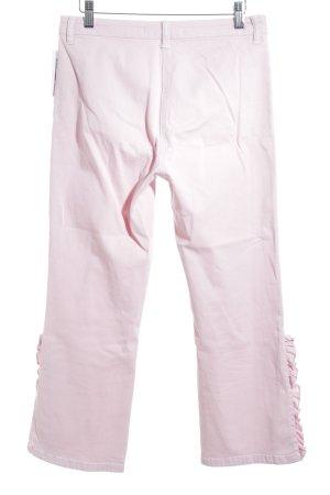 Zara Woman Straight-Leg Jeans hellrosa Urban-Look