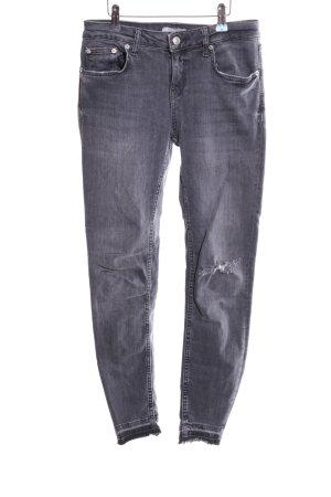 Zara Woman Stretch Jeans light grey casual look